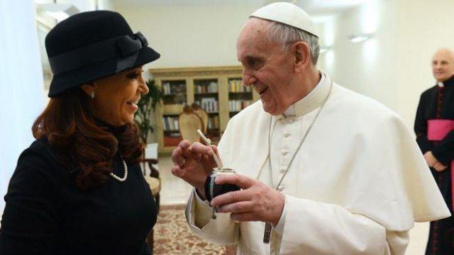cristina y el papa
