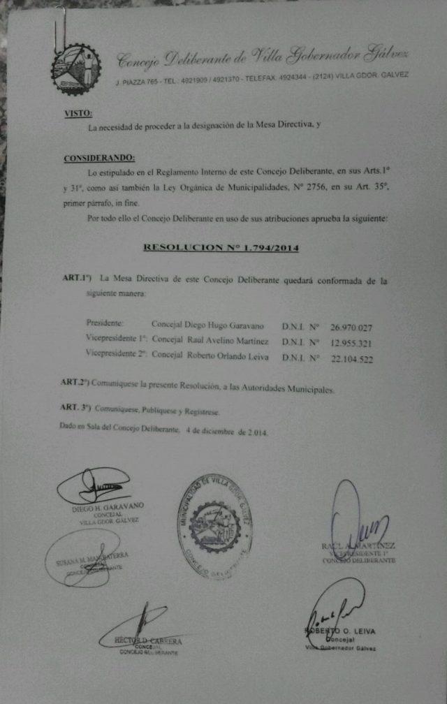resolucion concejales
